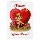 Siga su corazón tarjetón