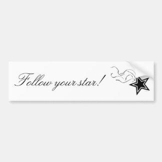 ¡Siga su estrella! - bumpersticker Pegatina De Parachoque