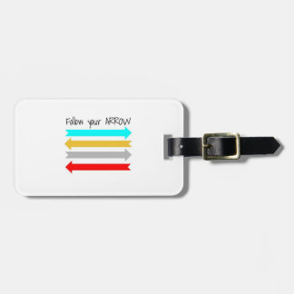 Siga su etiqueta del equipaje de la flecha etiquetas bolsas