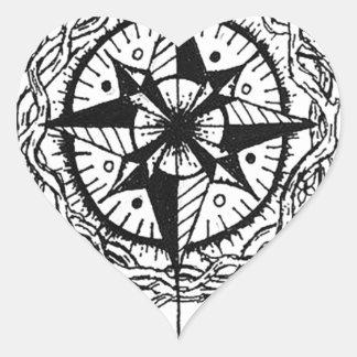 Siga su flecha pegatina en forma de corazón