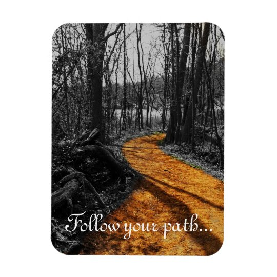 Siga su imán de la trayectoria