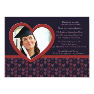 Siga su invitación de la graduación de la foto del