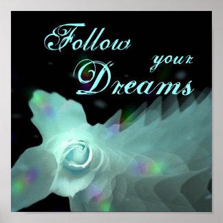 Siga su mariposa azul de DreamsTurquoise subió Impresiones