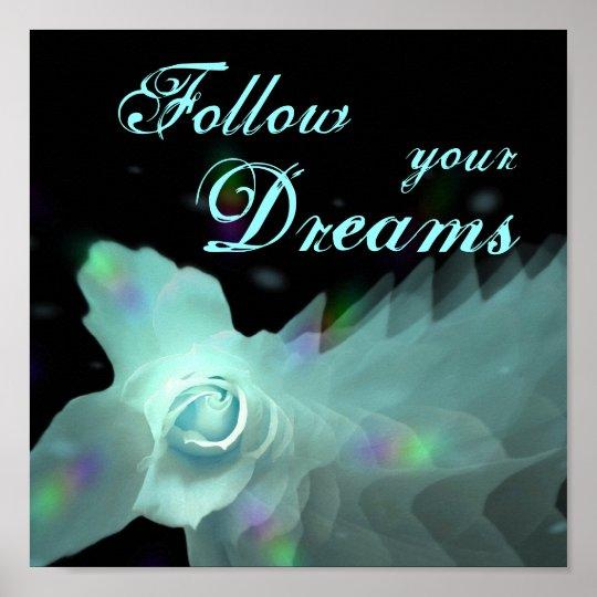 Siga su mariposa azul de DreamsTurquoise subió Póster