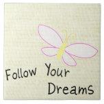 Siga su mariposa de los sueños azulejos cerámicos