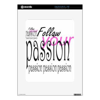 Siga su pasión calcomanías para iPad