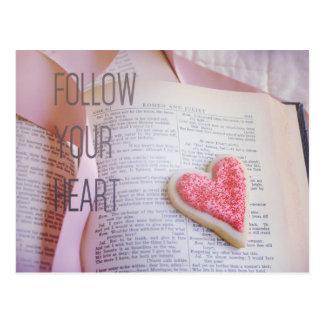Siga su postal del corazón