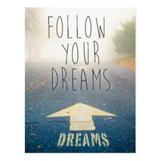 Siga su postal inspirada de los sueños