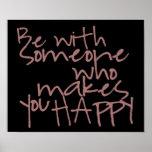Siga su poster de la felicidad