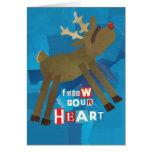 Siga su tarjeta de felicitación del corazón