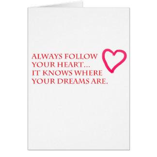 Siga su tarjeta del corazón