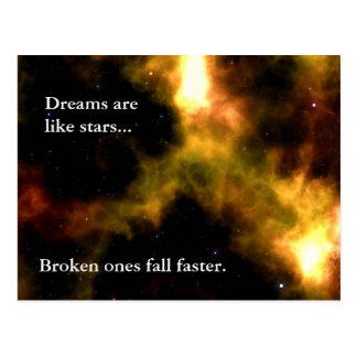 Siga sus sueños a las estrellas postales