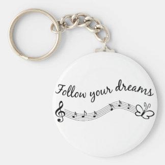 Siga sus sueños llaveros