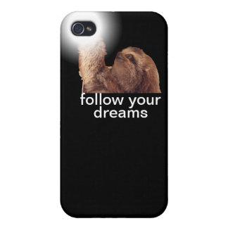 Siga sus sueños - pereza iPhone 4 carcasas
