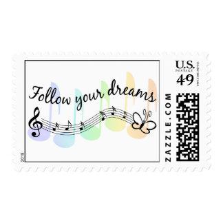 Siga sus sueños sello