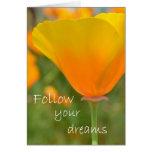 Siga sus sueños tarjeta