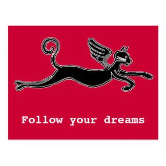 Siga sus sueños tarjeta postal