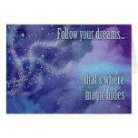 Siga sus sueños… tarjetón