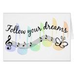 Siga sus sueños tarjeton