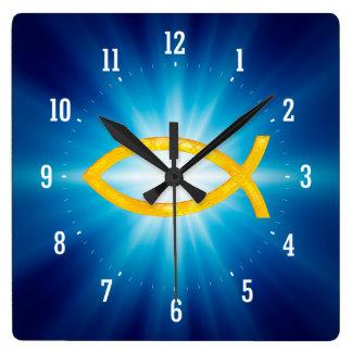 Sígalo - reloj de pared cristiano del símbolo de l