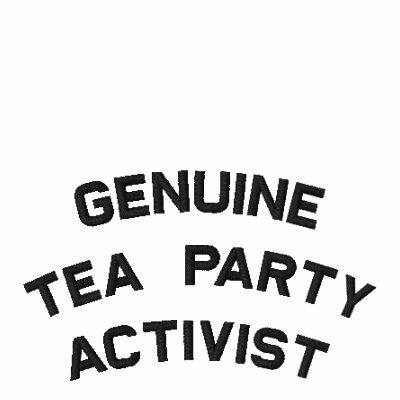 Sígame a la fiesta del té (véase el frente y la pa polo bordado
