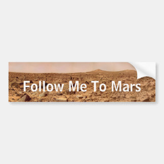 Sígame a Marte - la superficie de Marte Etiqueta De Parachoque