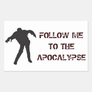 Sígame al pegatina de la apocalipsis