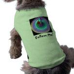 Sígame camiseta del perro prenda mascota