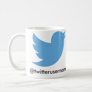 Sígame en el gorjeo (el username del taza de café
