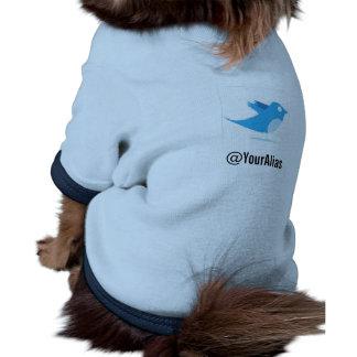 Sígame en gorjeo camiseta de mascota