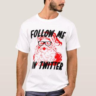 Sígame en la camiseta retra de Papá Noel del