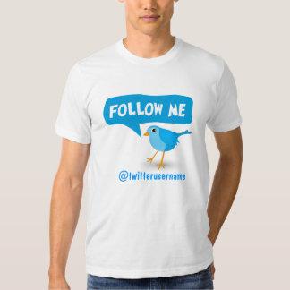 Sígame la camiseta de los hombres azules del poleras