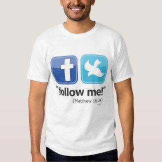 """""""sígame!"""" La camiseta social de los hombres (luz) Remera"""