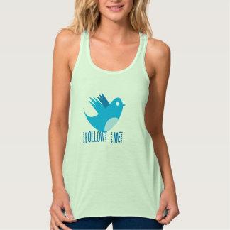 Sígame las camisetas del pájaro del gorjeo