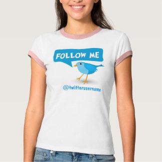 Sígame las camisetas para mujer del pájaro azul remera