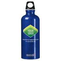 SIGG Blue Travel Water Bottle .6L with Custom Logo