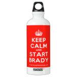 [Crown] keep calm and start brady  SIGG Water Bottles SIGG Traveler 0.6L Water Bottle