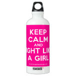 keep calm and fight like a girl  SIGG Water Bottles SIGG Traveler 0.6L Water Bottle
