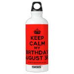 [Crown] keep calm my birthday august 3rd  SIGG Water Bottles SIGG Traveler 0.6L Water Bottle