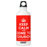 [Crown] keep calm and come to church  SIGG Water Bottles SIGG Traveler 0.6L Water Bottle