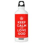 [Cupcake] keep calm and love god  SIGG Water Bottles SIGG Traveler 0.6L Water Bottle