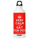 [Crown] keep calm and eat your food  SIGG Water Bottles SIGG Traveler 0.6L Water Bottle