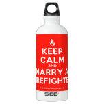 [Campfire] keep calm and marry a firefighter  SIGG Water Bottles SIGG Traveler 0.6L Water Bottle