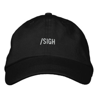 sigh embroidered hat