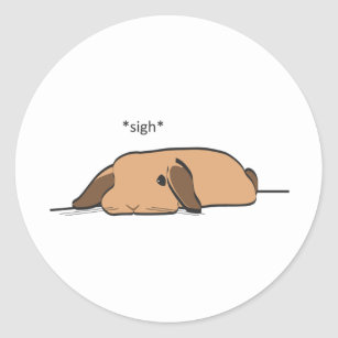 SIGHING LOP CLASSIC ROUND STICKER
