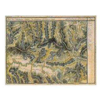 Sighisoara, 19th century map postcard
