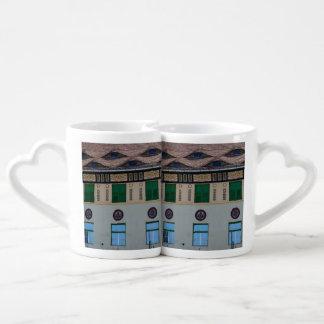 Sighisoara architecture lovers mug set
