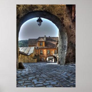 Sighisoara - ciudad medieval del lugar de nacimien impresiones