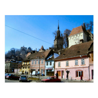 Sighisoara, ciudad y clocktower postal