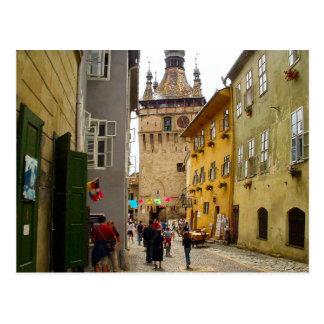 Sighisoara,   clocktower postcard